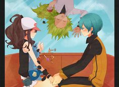 Touko, Ace Trainer, and N