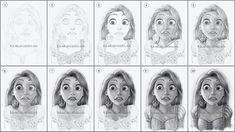 """Rapunzel"" Drawing"