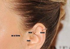 Cartilage Earring-Targus Hoops-Tragus Hoop-Tragus by Myhoopjewelry
