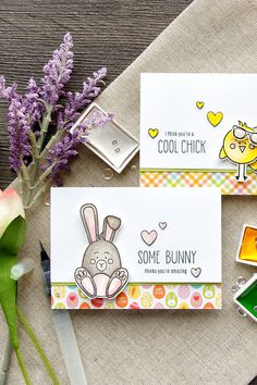 Some Bunny Thinks You're Amazing. Quick Watercolor Funny Easter Cards with Simon Says Stamp March 2017 Card Kit. http://www.yanasmakula.com/?p=57059