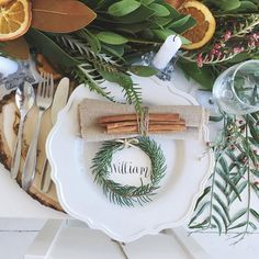 Loving these place cards I made for a shoot styled by @marispiker  : @lizzyography  #itsbeginningtolookalotlikechristmas