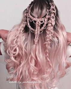 Vivid Hair Color, Hair Color Pink, Cool Hair Color, Gothic Hairstyles, Pretty Hairstyles, Wig Hairstyles, Light Pink Hair, Pastel Pink Hair, Gold Wigs