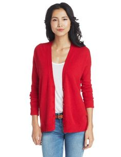 $75.60 nice Christopher Fischer Women's 100% Cashmere Boyfriend Cardigan Sweater