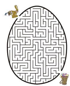 Easter bunny egg maze