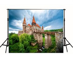 Purchase Red Roof Castle Photography Backdrop Stone Building Photo Background from Andrea Marcias on OpenSky. Castle Backdrop, High Building, Red Roof, Photo Backgrounds, Brick Wall, Digital Prints, Backdrops, Sky, Stone
