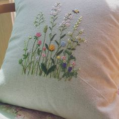 Wild flower embroidery