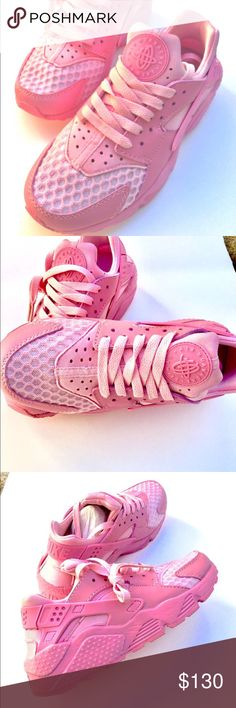 Women's pink Nike huaraches limited edition Women's pink Nike huaraches limited edition, won't last. Comes with box Nike Shoes Athletic Shoes