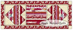 Apple Avenue Quilts:valentine table runner and mug rug