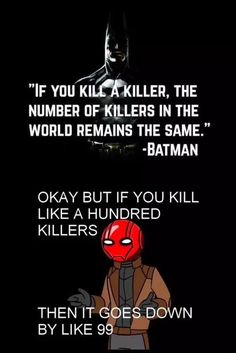 Jason is the most logical person in the bat family