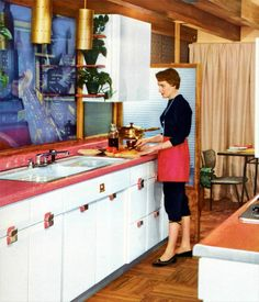 Glittery Laminate  1956 Color Guide to Home Decoration