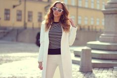#outfit white and stripes