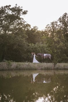 Beautiful country wedding...with a horse!