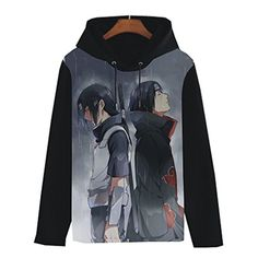 Onecos Naruto Uchiha Itachi Logo Hoodies Thicken Size M (height65in ,weight130 lbs) ** More info could be found at the image url.