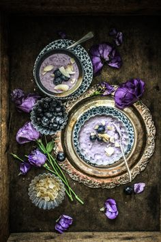 White Chocolate & Blueberry Rice Pudding