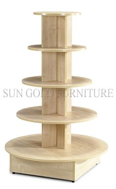 5 Tiered Round Wooden Display Stand, Display Table (SZ-WDR004)