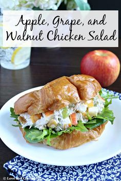 Love and Confections: Apple, Grape, and Walnut Chicken Salad #BrunchWeek...