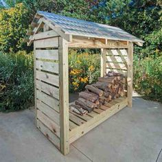 By making your own firewood shelter, you can keep your firewood dry during snowy or rainy days.