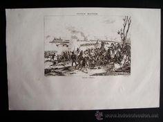 1835-BATALLA DE OCAÑA.TOLEDO. FRANCE MILITAIRE.GRABADO ORIGINAL