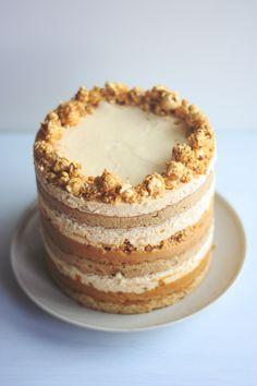 Momofuku Milk Bar inspired Salted Caramel Popcorn Cake.