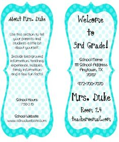 Instead of giving parents a packet of information on the first day of school, make a trifold classroom brochure with everything they need to know about you, your classroom, and your expectations for the year.  Editable and easy to use!  $