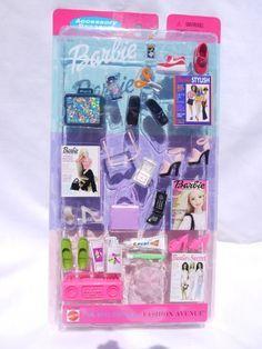Barbie Fashion Avenue Accessory Bonanza NIP Music, Art, Beach Items 2001 for sale online Mattel Barbie, Barbie Girl, Barbie Doll Set, Baby Barbie, Doll Clothes Barbie, Barbie Style, Barbie Fashionista, Vintage Barbie, Barbie Chelsea Doll