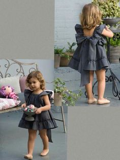 New moda infantil feminina girls Ideas Fashion Kids, Little Girl Fashion, Toddler Fashion, Baby Dress Design, Baby Girl Dress Patterns, Frocks For Girls, Little Girl Dresses, Kind Mode, Kids Outfits