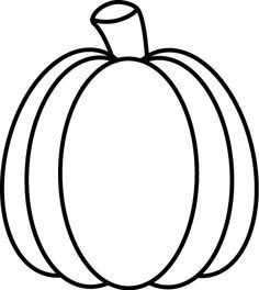 Black and White Autumn Pumpkin Clip Art - Black and White Autumn Pumpkin Image Pumpkin Clip Art, Pumpkin Drawing, Fall Applique, Applique Patterns, White Pumpkins, Fall Pumpkins, Thanksgiving Crafts, Fall Crafts, October Clipart
