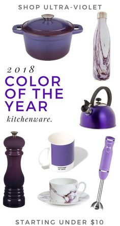 pantone color of the year 2018: ultra-violet. Shop for a purple kitchen inspired by the color authority. #kitchenware #kitchenideas #affiliate  #shop #gifts #style