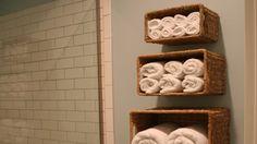 Diply.com - Home Design: Wall Baskets for Bath Towel Storage