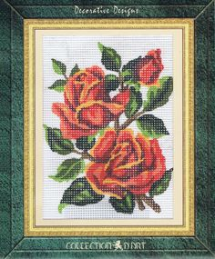Bunch Of Roses Tapestry Kit - Collection D'Art - 3186K - 14cm x 18cm