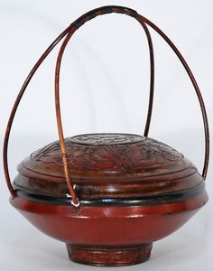 Antique Chinese red basket