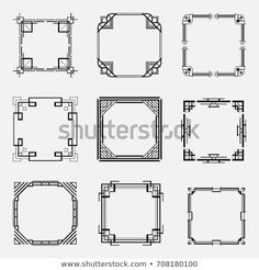 Collection of art deco borders and frames in style of templates for your design. Art Deco Borders, Diy Galaxy, Art Projects For Teens, Art Nouveau Design, Landscape Artwork, Borders And Frames, Design Furniture, Border Design, Art Deco Fashion