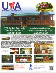 Amish made cabins, Amish Made Cabins, Cabin Kits, Log Cabins, Shepherdsville, KY Shepherdsville, KY Pricing