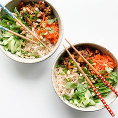 Recipe:Sweet and Spicy Pork Noodle Salad Salad Recipes Gluten Free, Meal Recipes, Asian Noodle Recipes, Pork Noodles, Free Meal, Noodle Salad, Salad Dressing Recipes, Sweet And Spicy, Soups And Stews