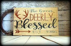 Woodland Sign  Deer Decor  Antler Sign  by SawdustAndSunshowers