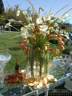 Floral centerpiece for a fabulous event! Centerpieces | Flowers | Tablescapes | Table Decorations | Event Decor | Accent Pieces Decoration Table, Centerpieces, Furniture, Home Decor, Decoration Home, Room Decor, Center Pieces, Home Furnishings, Home Interior Design