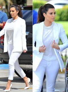 Kim Kardashian's All-White Look in Miami