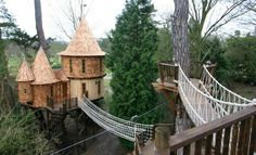 I think my kids would LOVE a tree house! I'm going to have Alan get started right away...