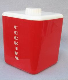 Vintage Plastic Lustro Ware Cookie Jar by atelierfleurdelis