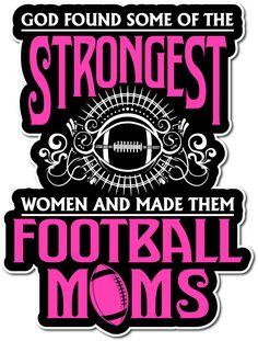 God Made Them Football Moms Sticker