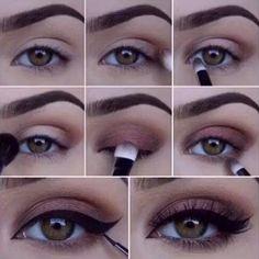 Makeup for hazel/green eyes