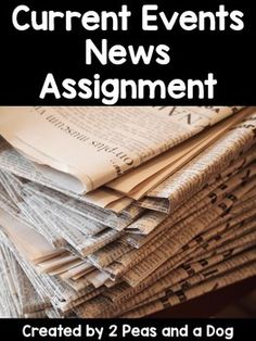 Want students to be informed about current events?  This assignment is also part of a larger bundled product.   Oral Presentations BundleIn this NO PREP just photocopy activity, students examine online or print news sources to report on a current event for their class.