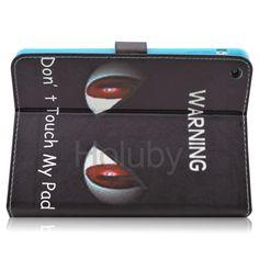 Red Big Eyes Magnetic Side Flip Stand TPU+ PU Leather Case for iPad Mini 3 iPad Mini 2 Retina iPad Mini