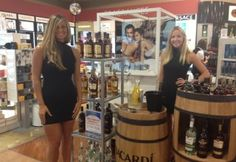 Our girls sample Bacardi Ready to Serve Mojitos at some Duty Free shops