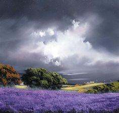 Allan Morgan original landscape paintings fine art acrylic on board - The basis of his inspiration is in the light, colour and atmosphere of landscape and nature. Landscape Artwork, Landscape Pictures, Watercolor Landscape, Abstract Landscape, Watercolor Paintings, Watercolour, Encaustic Art, Pictures To Paint, Beautiful Landscapes