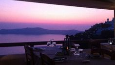 La Maison Santorini Greece.    Amazing view and (per another pinner) great food.