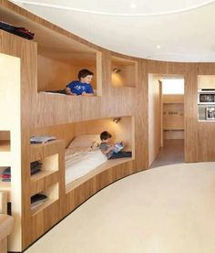 Beds, obviously modified for small home but love the storage ideas and way to keep floor space