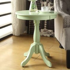 Ophelia & Co. Aldora Gray Area Rug & Reviews | Wayfair Diy End Tables, End Tables With Storage, Side Tables, Pedestal Side Table, Casual Decor, Green Table, Acme Furniture, White Area Rug, White Rug