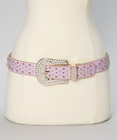 Another great find on #zulily! Lavender Crystal Cross Leather Belt by I Love Accessories #zulilyfinds