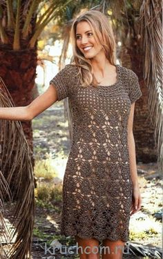 free stitch charts and pattern diagrams for this classic lace crochet dress